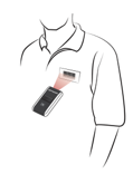 Scanning employee badge